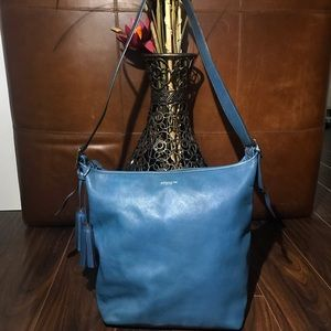 COACH LEGACY Blue Leather Crossbody/Hobo Bag